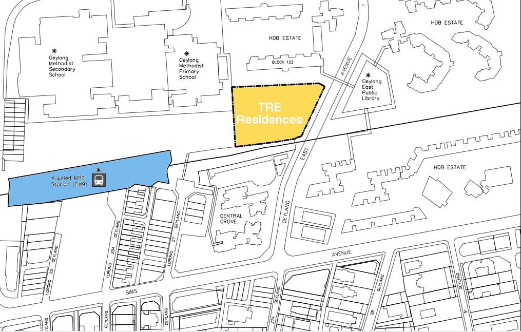 TRE Residences Location Plan