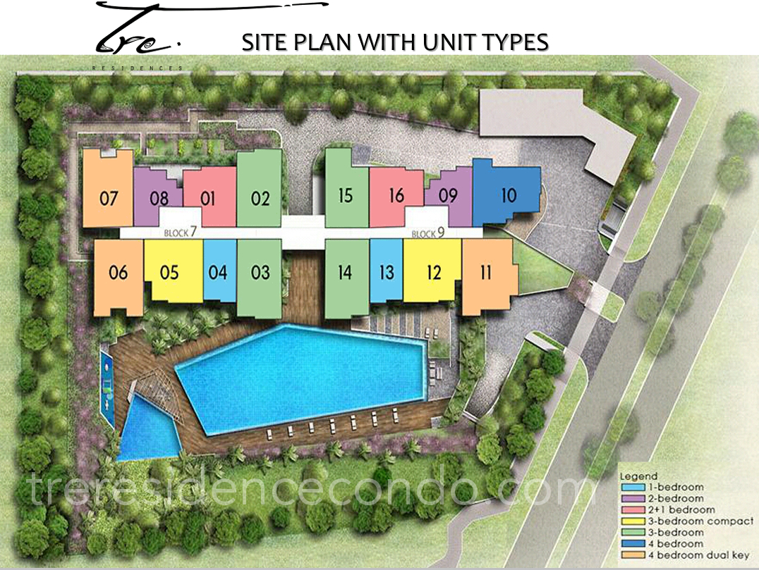 Tre Residences Site Plan Layout